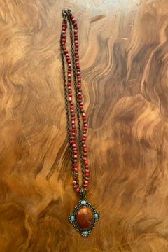 Shoptiques Product: Carnelian Pendant Necklace