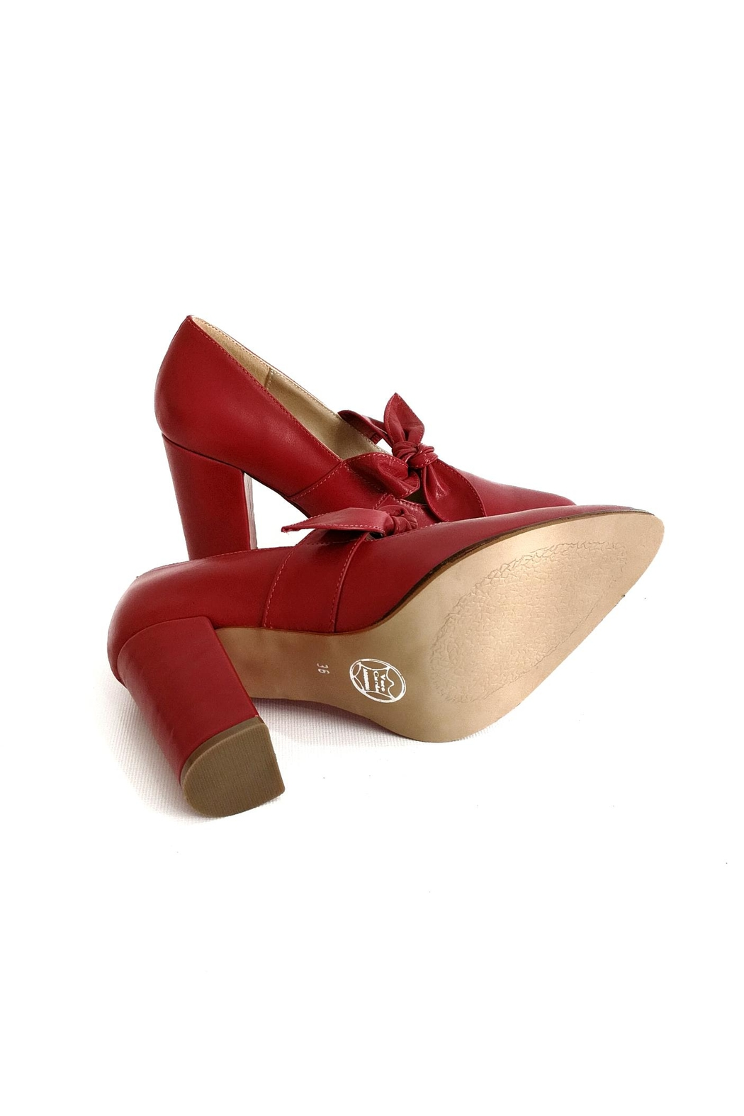 MIYE COLLAZZO Carnival Red Stiletto - Side Cropped Image