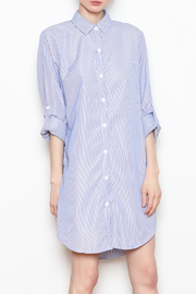 Carole Christian Stripe Shirt Dress - Product Mini Image