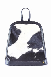 Carolina Crowley Black and White Fur Backpack - Product Mini Image
