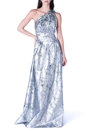 Carolina Herrera Silver Flower Gown - Product Mini Image