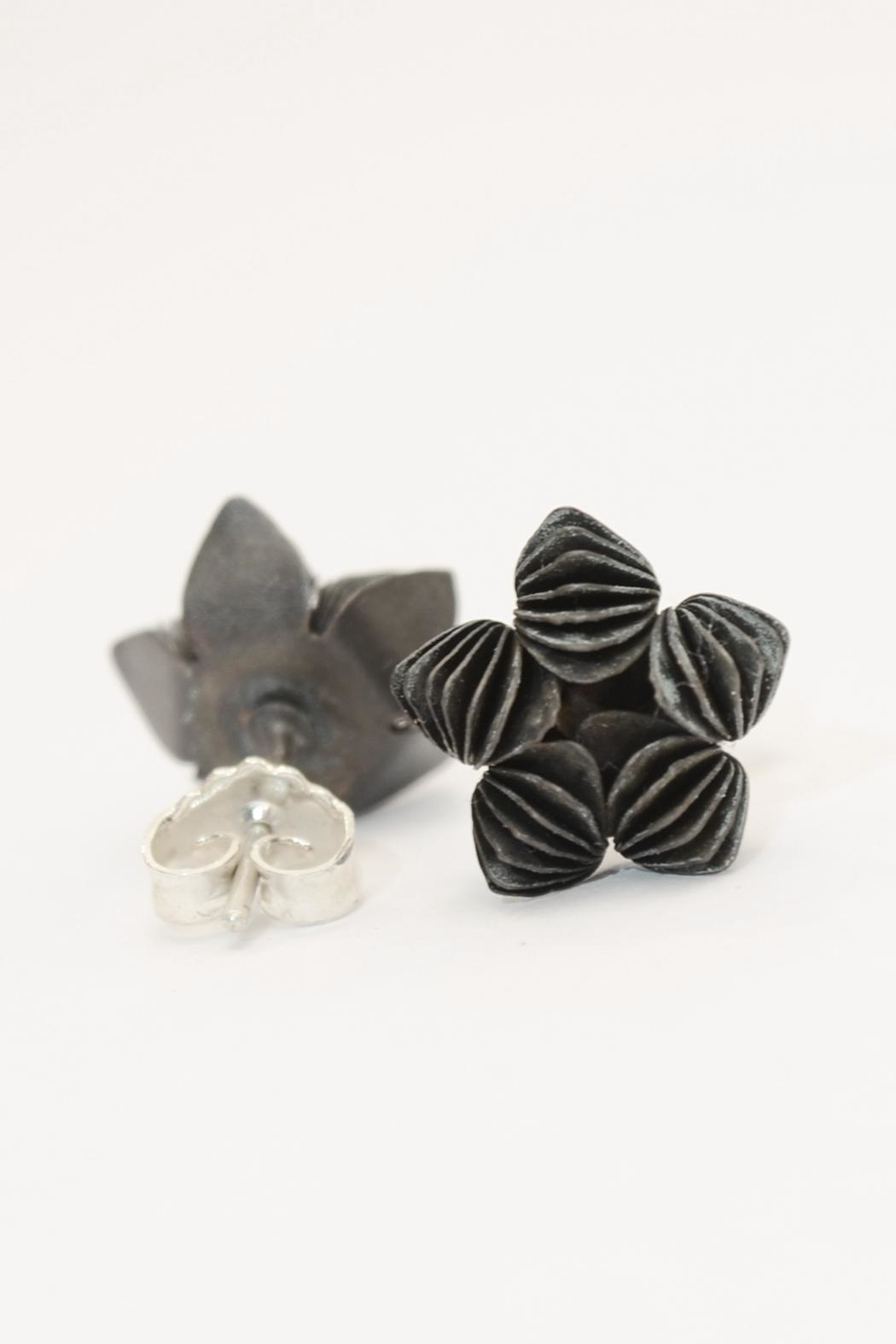 Carolina Lutz Black Flower Stud - Main Image
