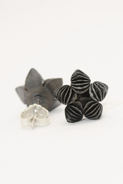 Carolina Lutz Black Flower Stud - Product List Image