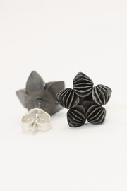 Carolina Lutz Black Flower Stud - Product Mini Image