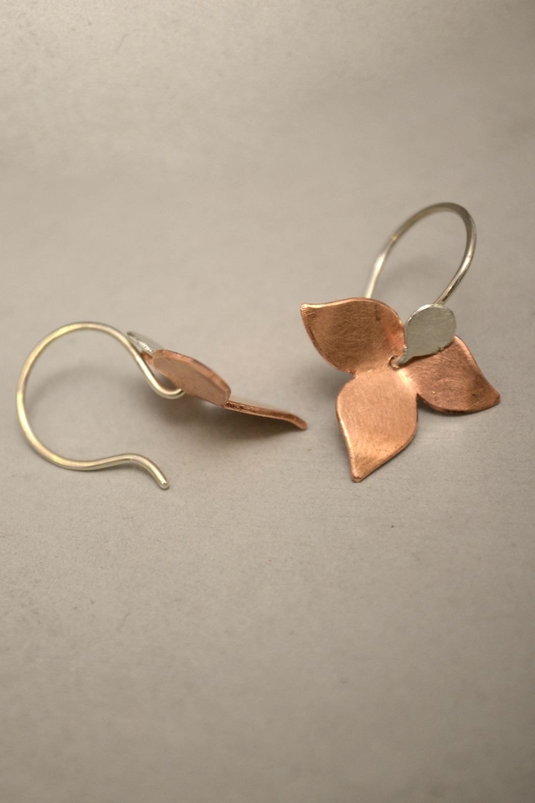 Carolina Lutz Floral Minimalistic Earrings - Front Full Image