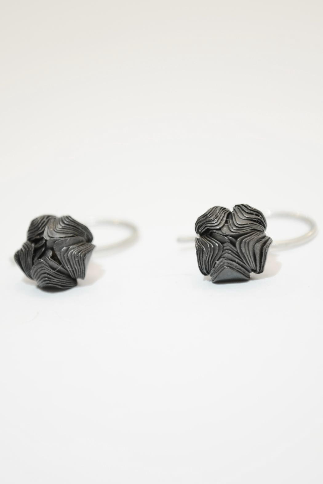 Carolina Lutz Oxidized Flower Earring - Main Image