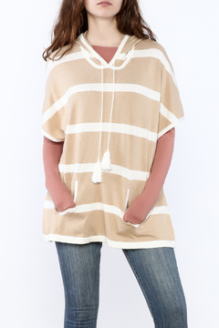 Shoptiques Product: Stripe Hooded Poncho