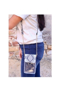 Caroline Hill Clear Phone Purse - Product List Image