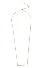 Caroline Hill CZ Bar Necklace - Product Mini Image