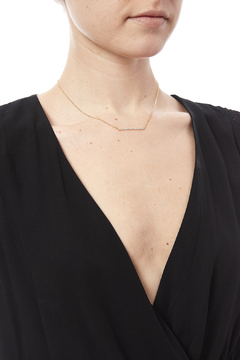 Caroline Hill CZ Bar Necklace - Alternate List Image