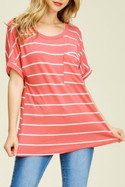 White Birch Caroline Stripe Tee - Product Mini Image