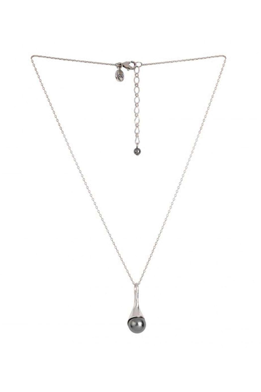 Caroline Neron Grey Pearl Necklace - Front Cropped Image