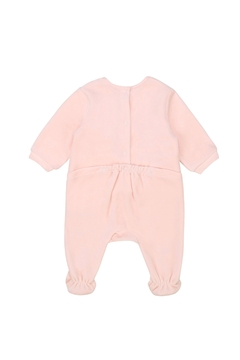 Carrément Beau Baby Pink Cotton Velour Footie - Great Baby Shower Gift - Alternate List Image