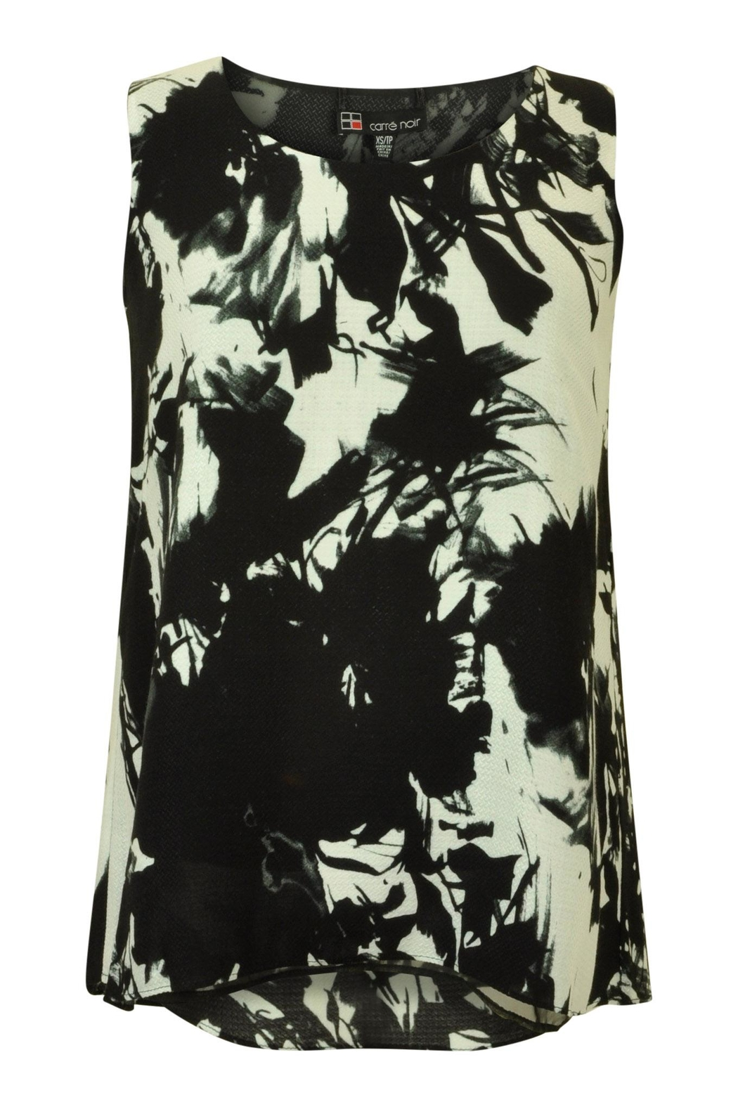 Carre Noir Abstract Floral Shell Top - Main Image