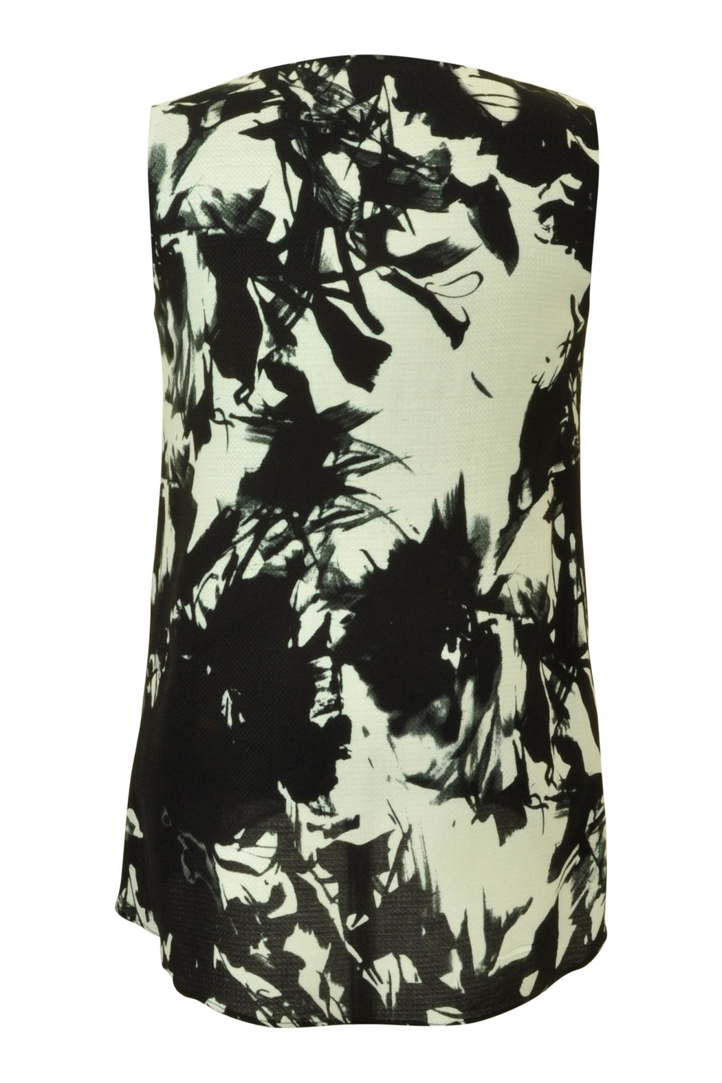 Carre Noir Abstract Floral Shell Top - Front Full Image