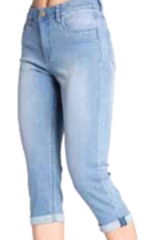 Carreli Jeans Light Washed Denim Capri - Product Mini Image