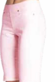 Carreli Jeans Soft Pink Pull On Bermuda Shorts - Product Mini Image