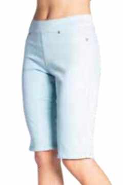 Carreli Jeans Turq Pull On Bermuda Shorts - Product List Image