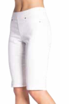 Carreli Jeans White Pull On Bermuda Shorts - Product List Image