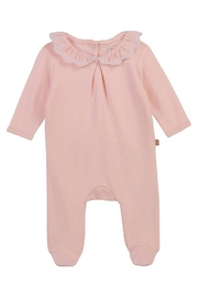 Carrement Beau  Baby Back Snap Footie with Ruffle Collar For Girls - Product Mini Image