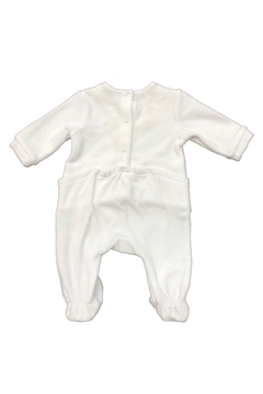 Carrément Beau Carrement Beau Baby Pajamas - White Luxury Velour Footie with Rabbits and Stars design - Alternate List Image