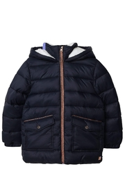 Carrement Beau  Kid's Navy Puffer Water Repellent Jacket (Unisex) - Product Mini Image