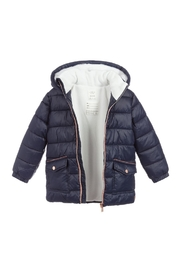 Carrement Beau  Kid's Navy Puffer Water Repellent Jacket (Unisex) - Front full body