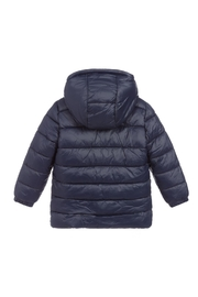 Carrement Beau  Kid's Navy Puffer Water Repellent Jacket (Unisex) - Side cropped