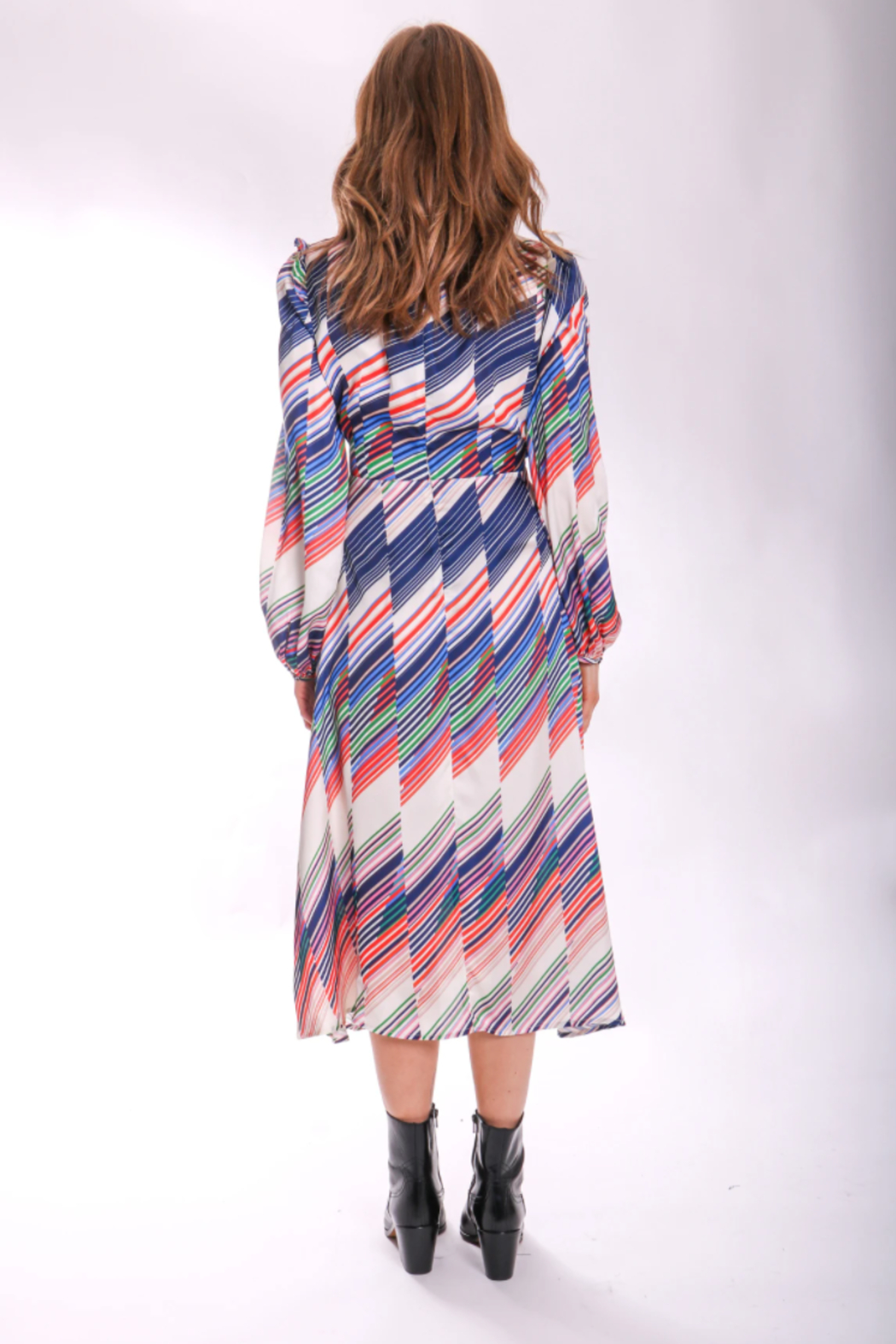 Traffic People Carrie Belted Midi - Front Full Image