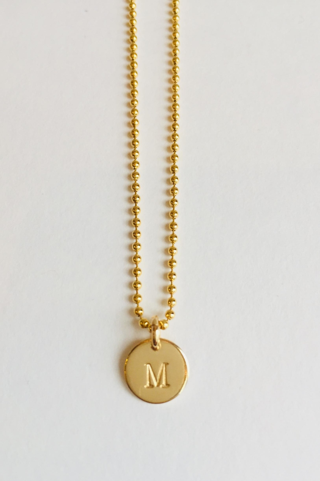 CARRIE'D AWAY Personalized Initial Necklace - Main Image
