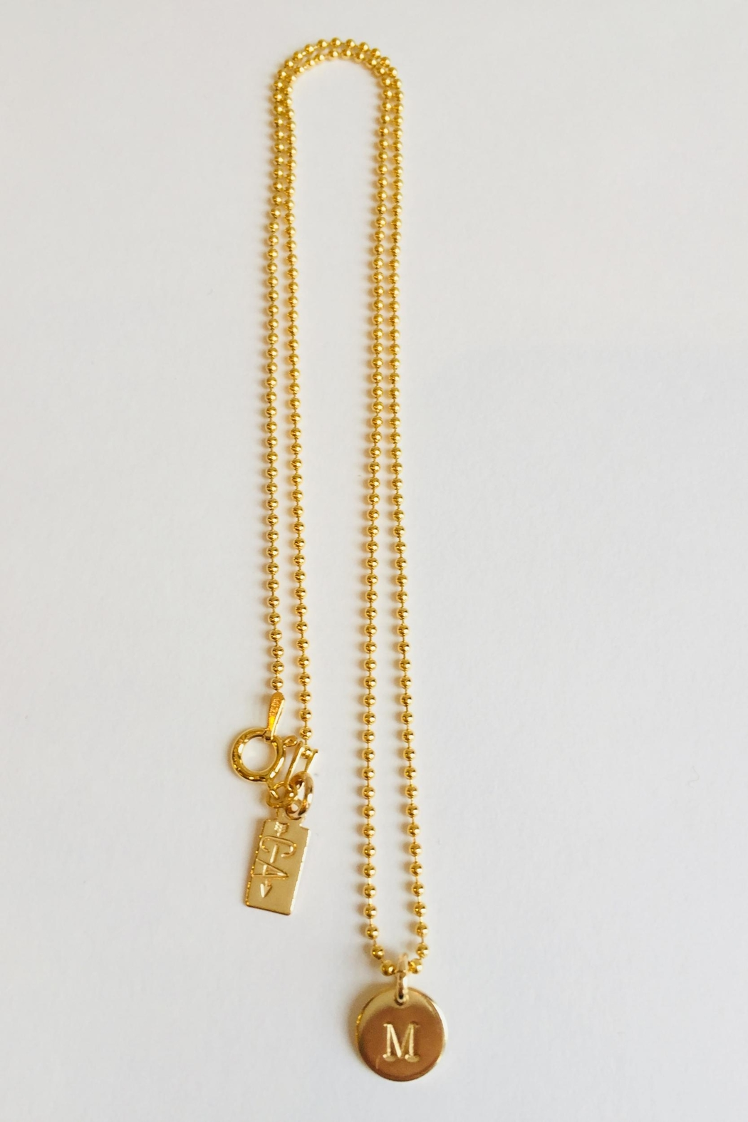 CARRIE'D AWAY Personalized Initial Necklace - Front Full Image