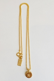 CARRIE'D AWAY Personalized Initial Necklace - Front full body