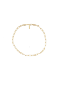 Sahira Jewelry Designs Carrie Paper Clip Necklace- 16