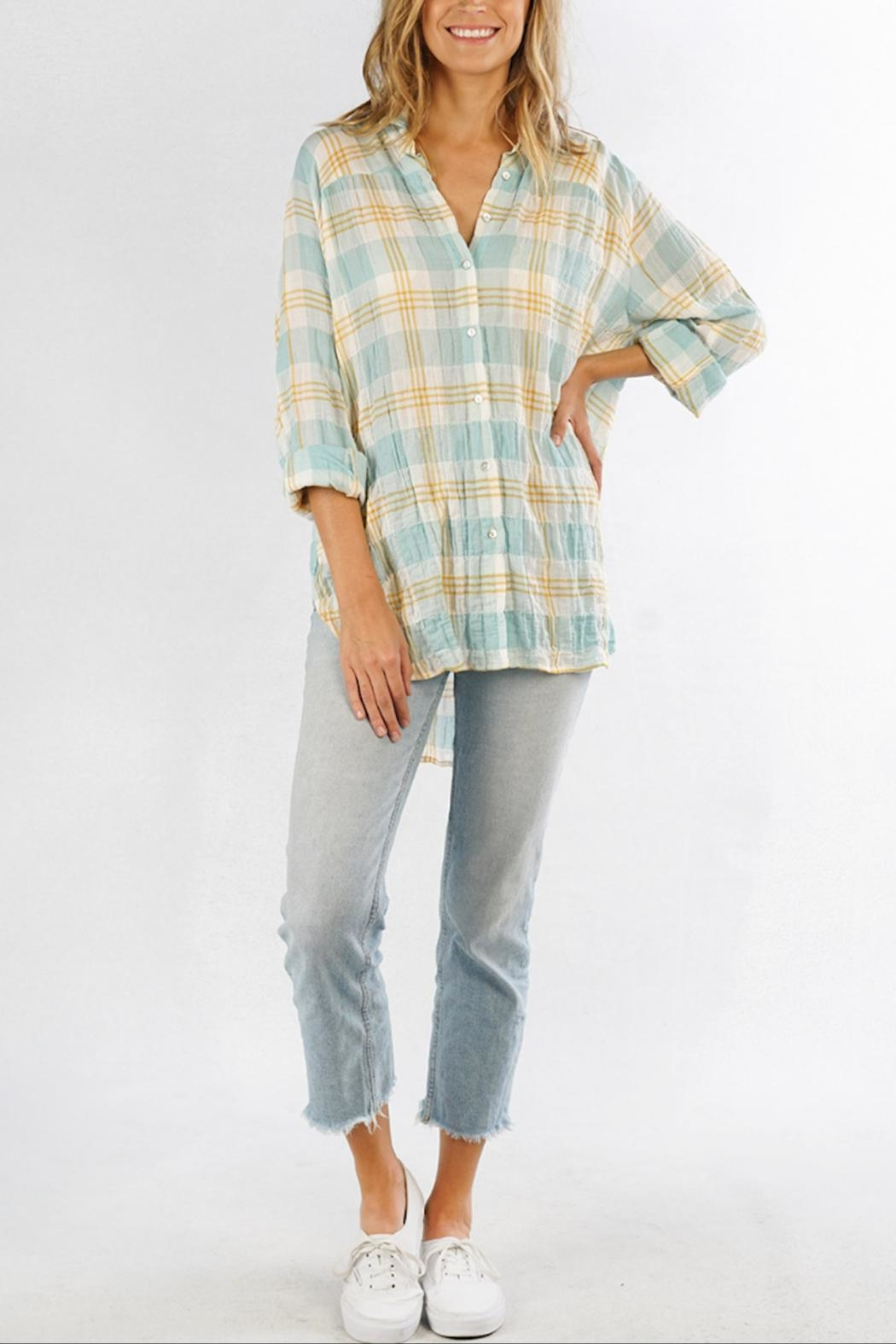 Love Stitch Carrie Plaid Shirt - Front Full Image