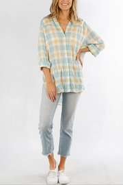 Love Stitch Carrie Plaid Shirt - Front full body
