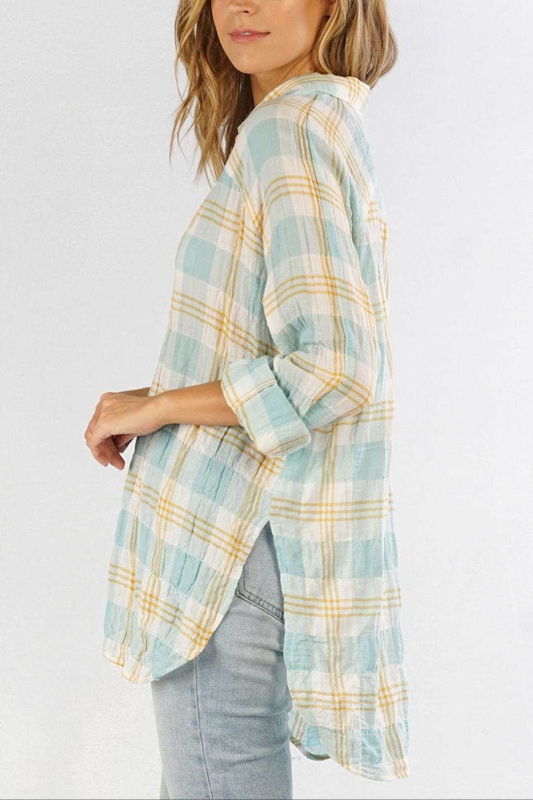 Love Stitch Carrie Plaid Shirt - Side Cropped Image