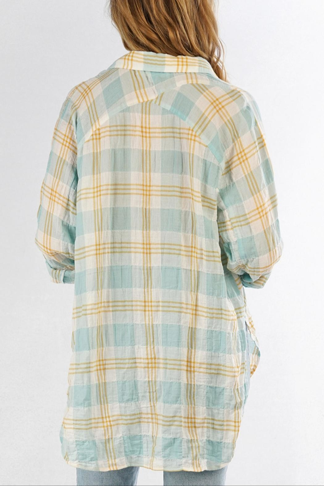 Love Stitch Carrie Plaid Shirt - Back Cropped Image