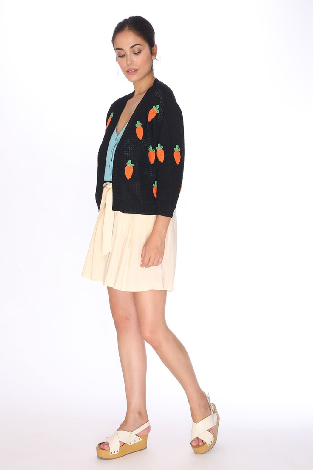 PepaLoves Carrot Cardigan - Side Cropped Image