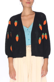 PepaLoves Carrot Cardigan - Front cropped
