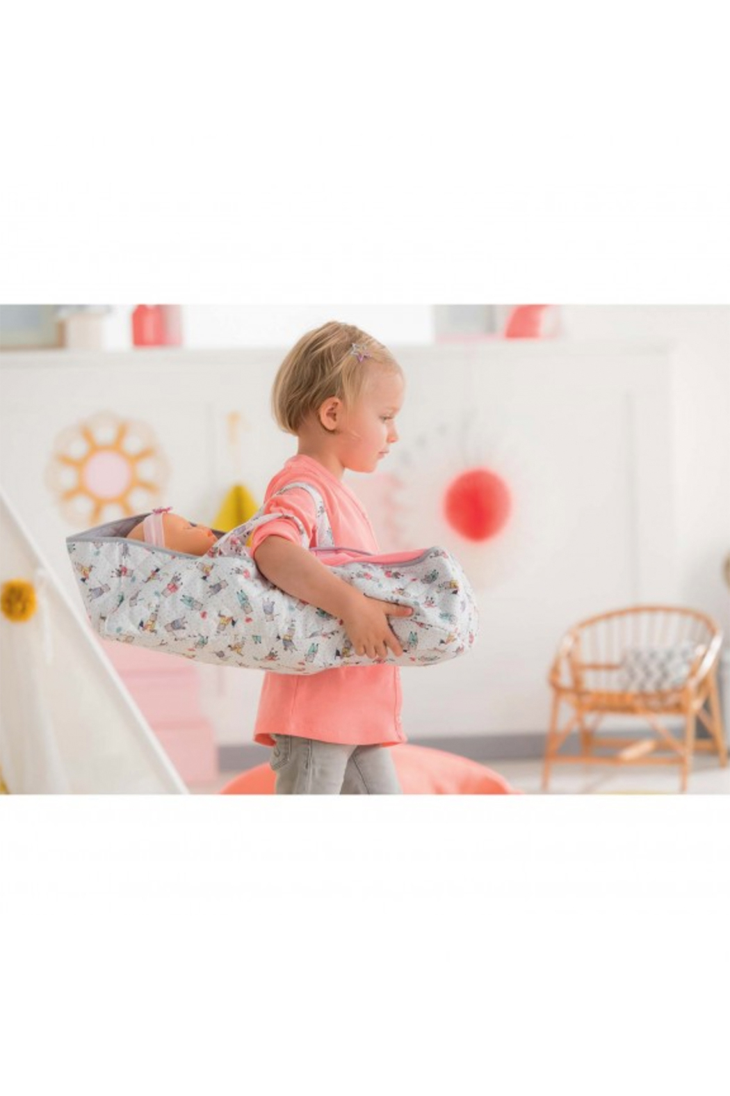 Corolle Carry Bed For Large Baby Dolls - Front Full Image