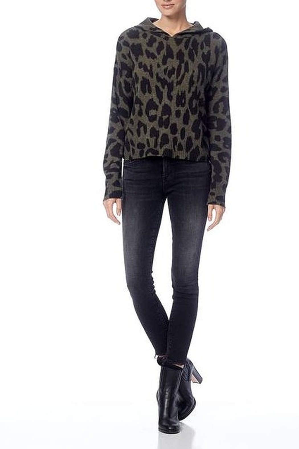 360 Cashmere Carson Skull Sweater - Front Cropped Image