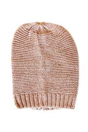 Carte Blanche Beige Shimmer Beanie - Product Mini Image