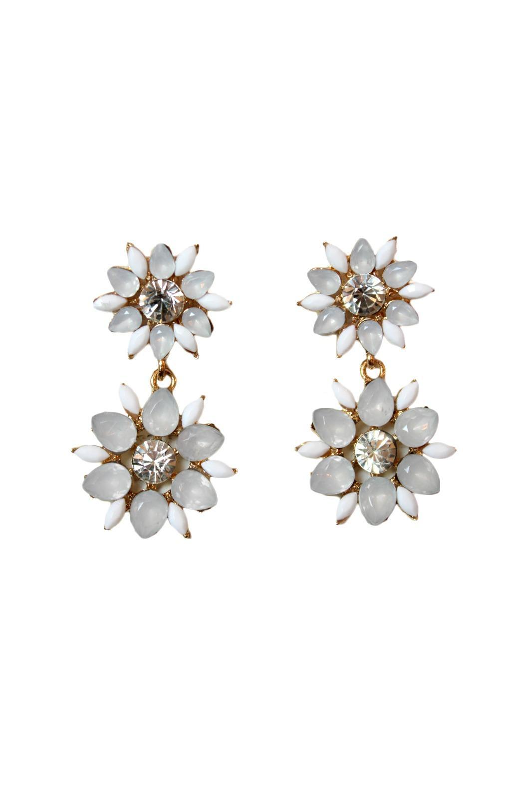 Carte Blanche Cloud White Flower Earrings From Vancouver Shoptiques