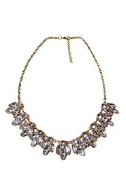 Carte Blanche Crystal Art-Deco Necklace - Product Mini Image