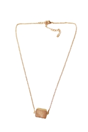 Carte Blanche Druzy Necklace Pink - Product Mini Image