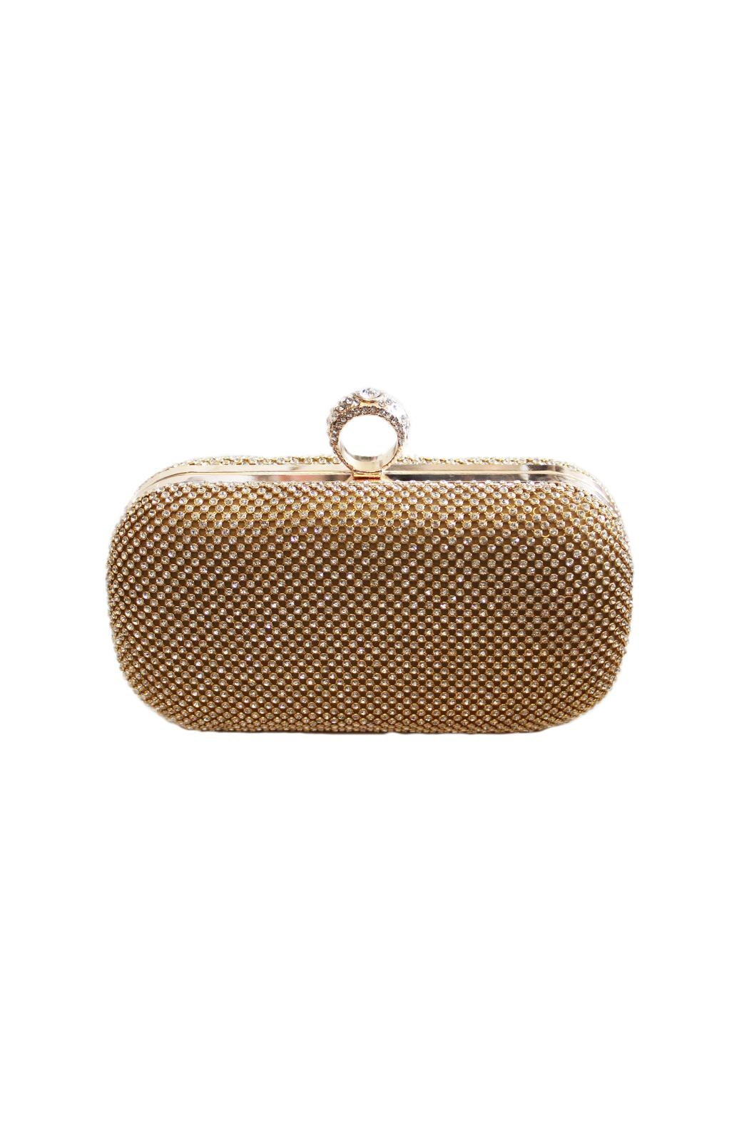 Carte Blanche Glam Gold Ring Clutch - Main Image