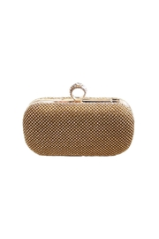 Carte Blanche Glam Gold Ring Clutch - Front cropped