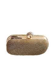 Carte Blanche Glam Gold Ring Clutch - Front full body