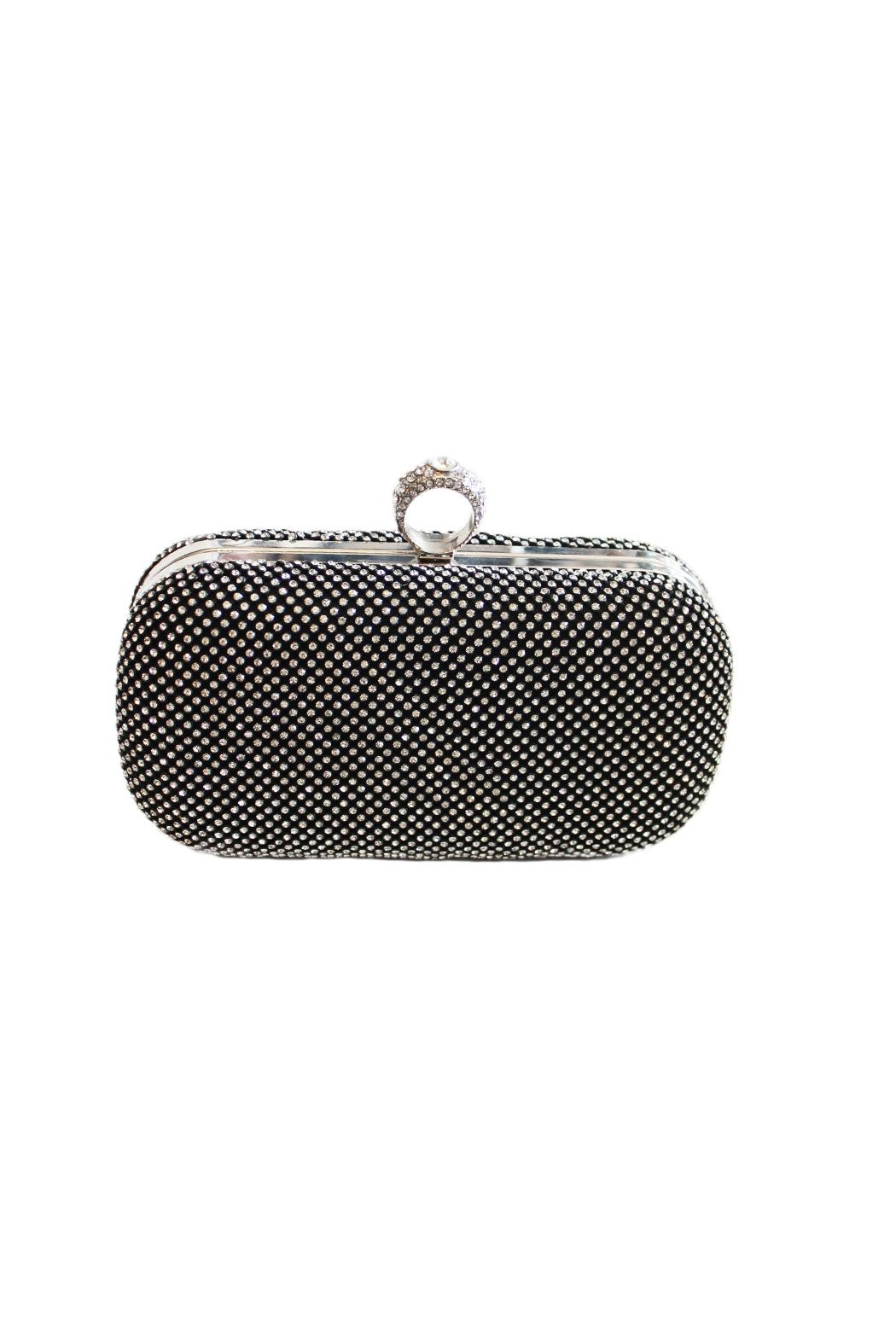 Carte Blanche Glitz & Glam Ring Clutch - Front Cropped Image