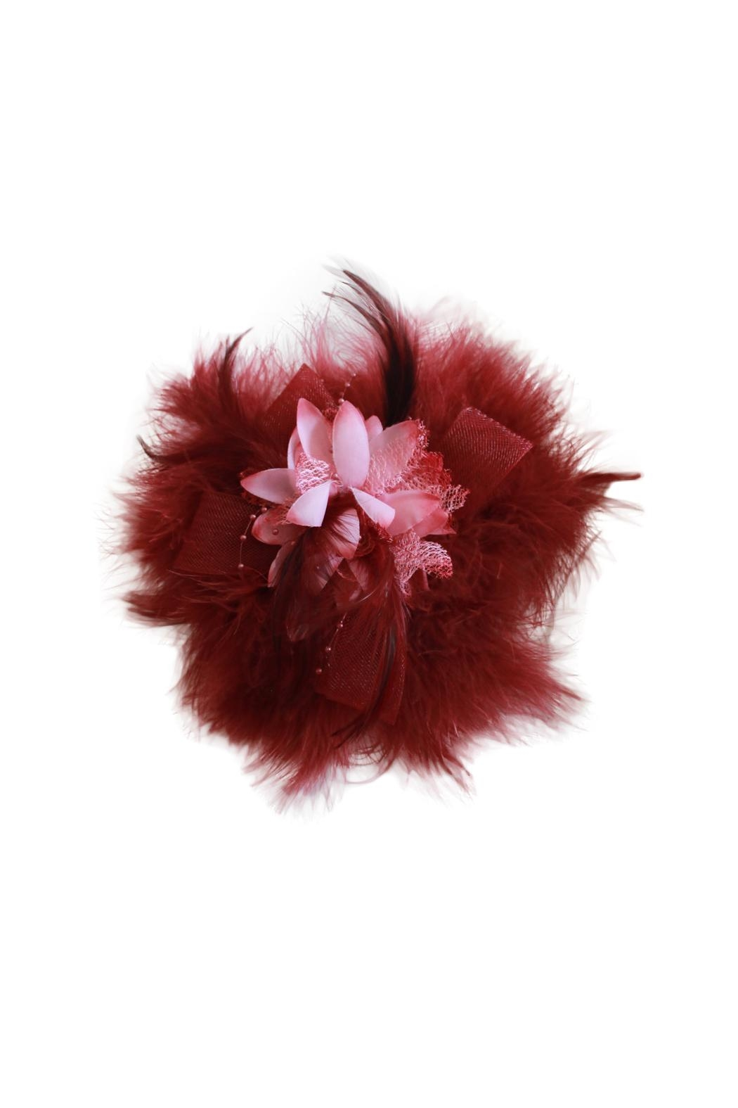 Carte Blanche Iris Fascinator - Front Cropped Image